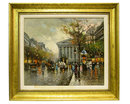 Madeleine Church Paris Cityscape Oil Painting by Antoine Blanchard