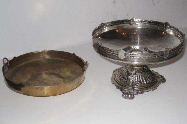 Neoclassical German Silver Centerpiece & Compotes