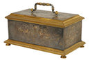 Gold & Silver Inlaid Steel & Bronze Jewellry Casket