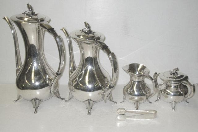 Mid-Century Japanese Sterling Tea & Coffee Set