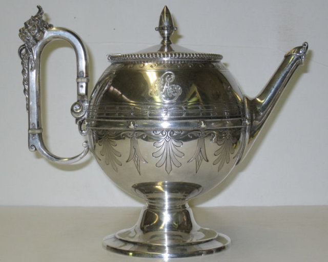 Antique Bailey & Co. Silver Tea & Coffee Set by Gorham