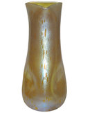 Golden Phänomen Glass Vase with Silberiris Decor Astraa Finish by Loetz