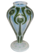 Jugendstil Glass Vase by Ludwig Sütterlin for Fritz Heckert