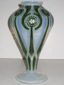 Jugendstil Glass Vase by Ludwig Sütterlin for Fritz Heckert