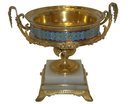 Antique French Champleve Bronze Centerpiece