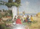 Seaside Genre Oil on Canvas After Antonio Paoletti De Giovanni