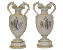 Pair of Antique Neoclassical Porcelain Vases by KPM