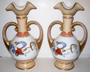 Pair Roman Neoclassical Paris Porcelain Vases