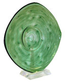Green Glass Centerpiece by Schneider