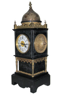 Tiffany & Company Slate Mantle Clock in Renaissance Style by Japy Freres & Co.
