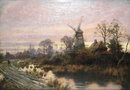 Dutch Landscape Oil on Canvas by Joseph Paulman