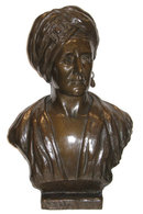 Orientalist Male Bust Sculpture by Edith Lichtenstein