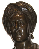 Orientalist Male Bust Sculpture by Edith Lichtenstein