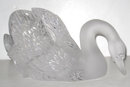 Lalique Crystal Head Down Swan 11615 Mint Condition