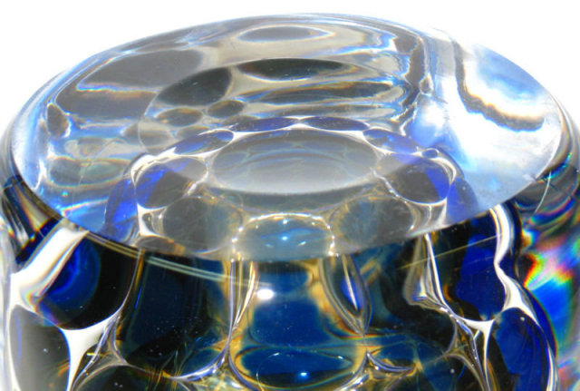 Orrefors Ariel Glass Vase by Ingeborg Lundin
