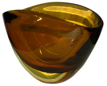 Sommerso Glass Vase Attributed to Flavio Poli for Seguso Vetri