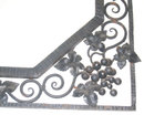 Art Deco Period Wrought Iron Mirror with Grapevine Motif