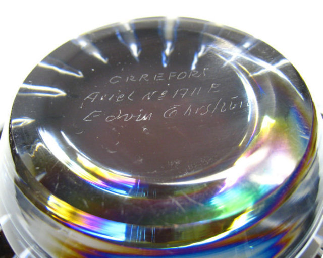 Ariel Glass Bowl by Edvin Ohrstrom (1906-1994) for Orrefors