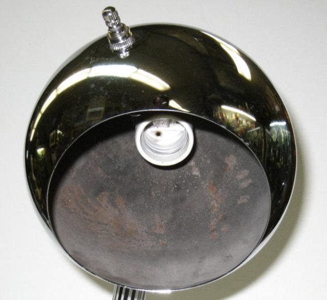 Mid-Century Chrome and Acrylic Snake Table Lamp