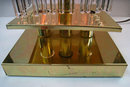 Pair of Mid-Century Brass Table Lamps with Lighted Glass Rods