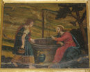Antique Biblical Allegorical Framed Painted Fresco