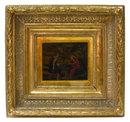 Antique Biblical Allegorical Framed Painted Fresco