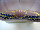 Secessionist Jugendstil Enamelled Glass Centerpiece Basket