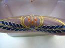 Secessionist Jugendstil Enamelled Glass Centerpiece Basket