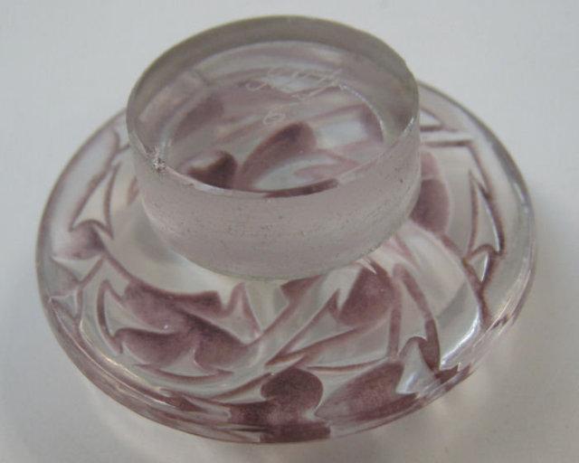 Epines Mauve Glass Perfume Bottle by Rene Lalique