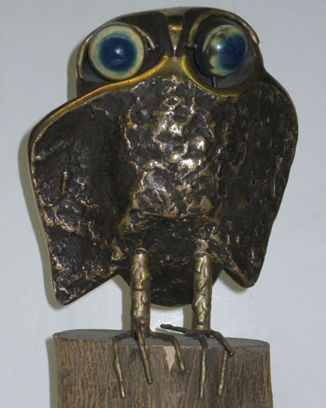 1970 Bronze Owl Figurine by Curtis Jere