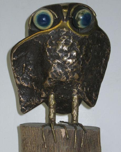 1970 Bronze Owl Figurine by Curtis Jere