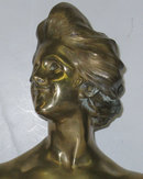 Antique Art Nouveau Female Bronze Bust by Fortiny