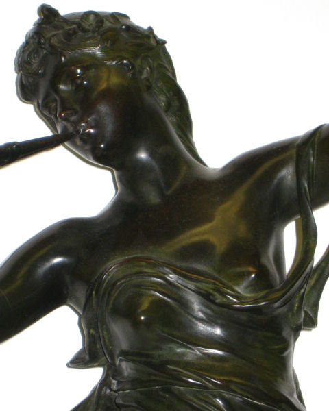 Muses des Bois Bronze Sculpture After Eugene Marioton (1857-1933)