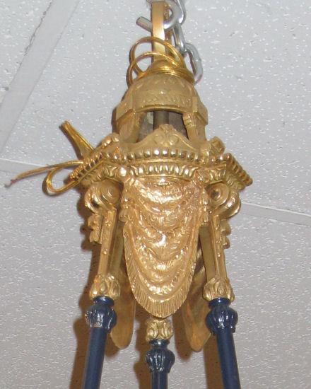 Antique French Louis XVI Style Ormolu Bronze Chandelier