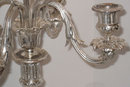 Pair of Antique Christofle French Silverplated Candelabra