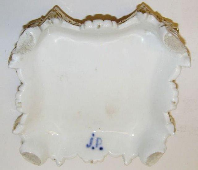 Pair Jacob Petit Porcelain Pedestals & Decanters