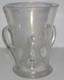 Verre de Soie Iridescent Loving Cup Glass Vase Attributed to Steuben