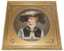 Pair of Antique Viennese Porcelain Portrait Plaques by Pirkner