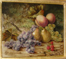 1875 English Fruit Still Life Oil on Canvas by P.W. Johnson