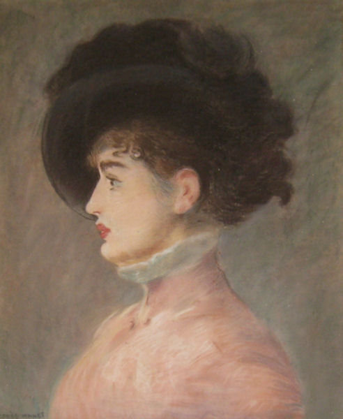Jacquet Pastel Portrait of Irma Brunner After Edouard Manet