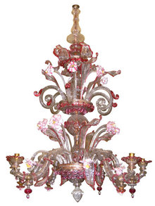 Antique Venetian Glass Chandelier