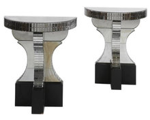 Art Deco Mirrored Glass Console Tables After Serge Roche