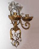 Maison Bagues Style Gilt Brass & Glass Sconces