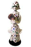 Fulvio Bianconi Arlechina Commedia del' Arte Glass Figurine for Venini