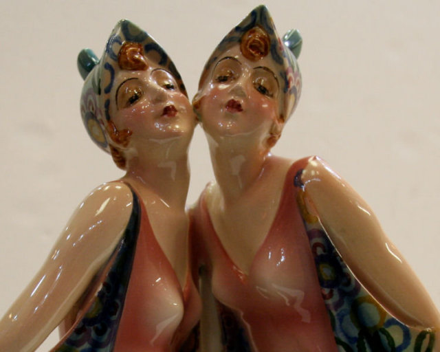 Goldscheider Dolly Sisters Figurine by Stephan Dakon