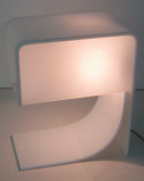 White Plastic Table Lamp by Neal Small Circa 1965