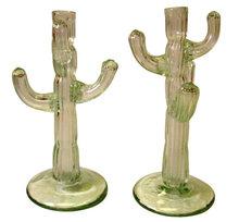 Napoleone Martinuzzi Cactus Glass Candlesticks for Venini c1930