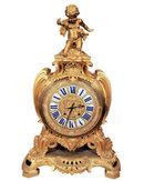 Antique Louis XV Style Ormolu Bronze Mantle Clock