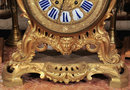 Antique Louis XV Style Ormolu Bronze Mantle Clock