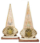 Antique Continental Marble & Plaster Table Ornaments or Bookends